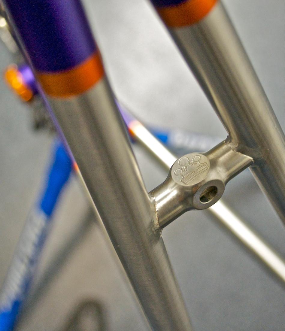 Rear brake bridge detail